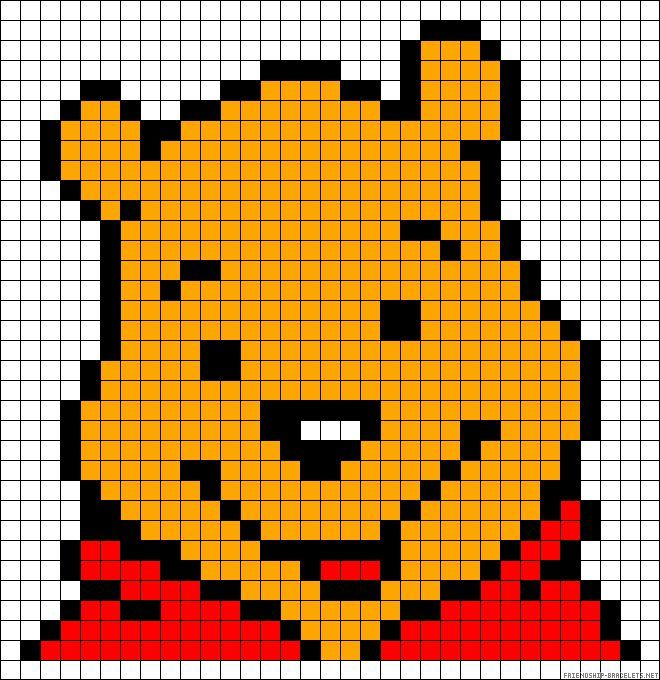 Dessin Pixel Art Winnie Les Dessins Et Coloriage