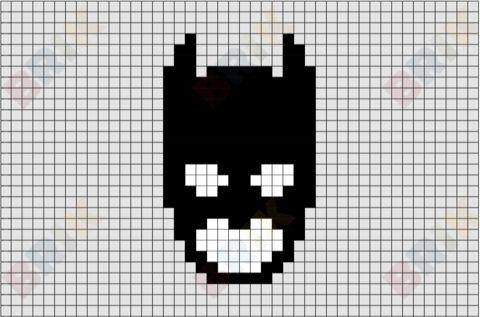 dessin pixel bonhomme