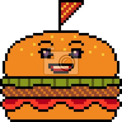 dessin pixel burger