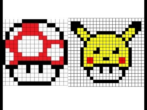 Art Pixel Art Facile Mario Champignon