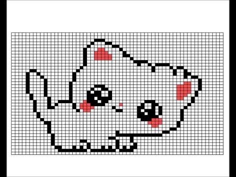 Dessin Pixel Chat Les Dessins Et Coloriage