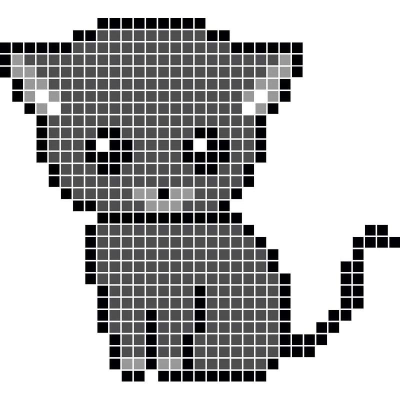 Pixel Art Animaux Chaton