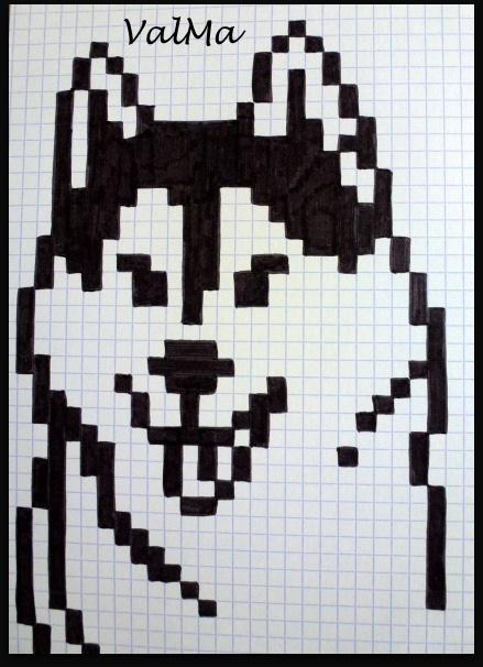 Dessin Pixel Chien Facile Les Dessins Et Coloriage