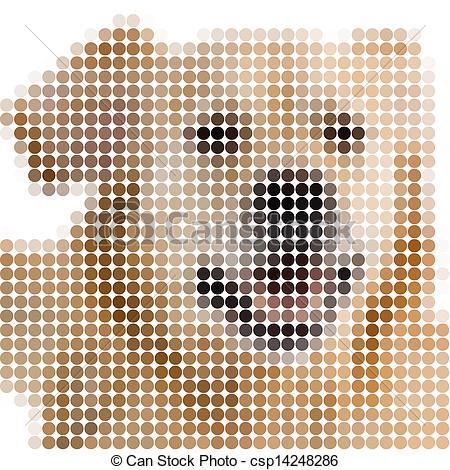 dessin pixel chien