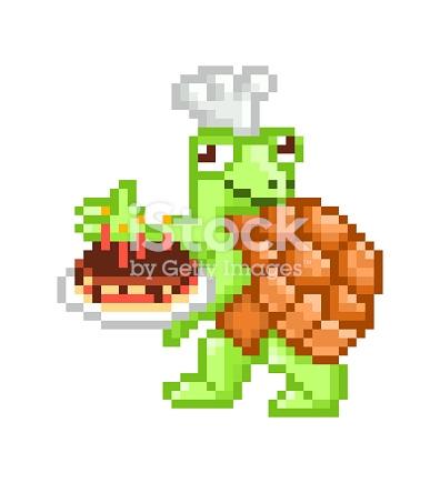 dessin pixel chocolat