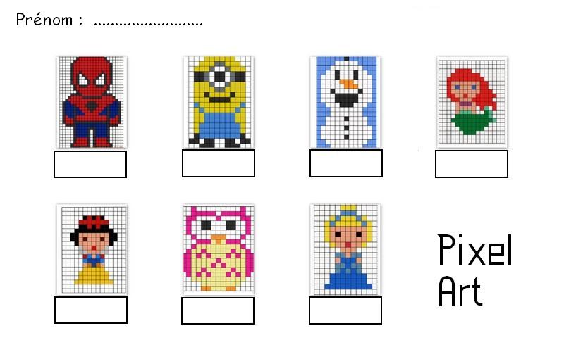 Dessin Pixel A Imprimer Et A Colorier Gratuit