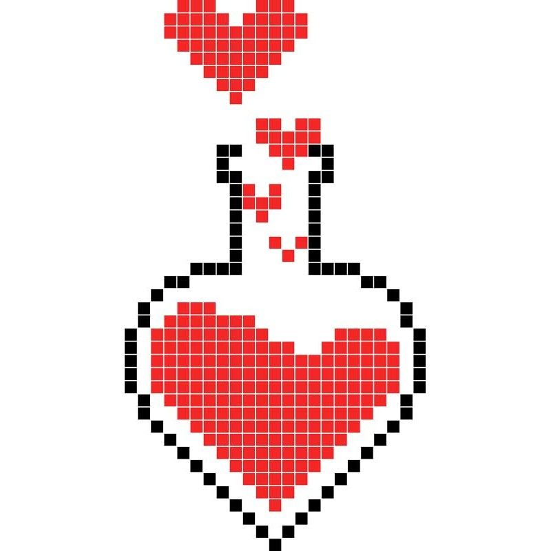 Dessin Pixel D Amour Les Dessins Et Coloriage