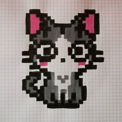 Dessin Pixel Art Chat