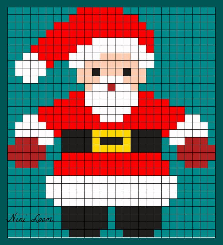 dessin pixel de noel