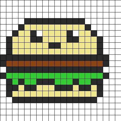 dessin pixel donuts