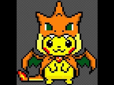 Mega Dracaufeu Pixel Art Pokemon Dracaufeu