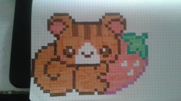 Dessin Pixel Ecureuil Les Dessins Et Coloriage