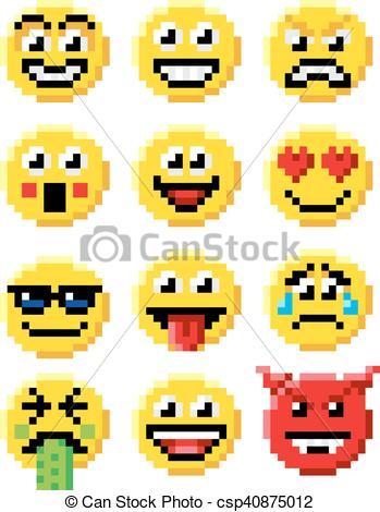 Dessin Pixel Emoji Les Dessins Et Coloriage