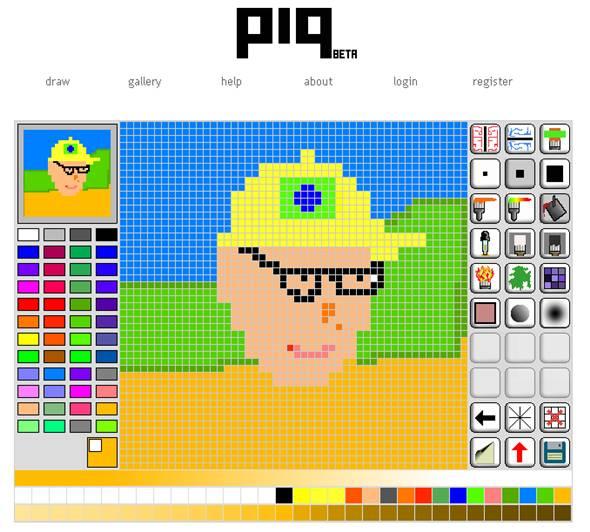 dessin pixel en ligne