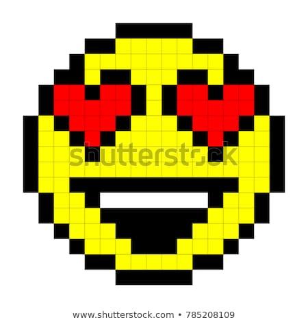 dessin pixel en smiley