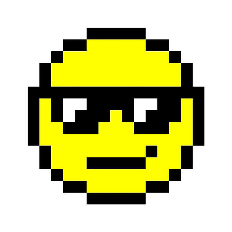 dessin pixel en smiley