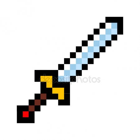 dessin pixel epee