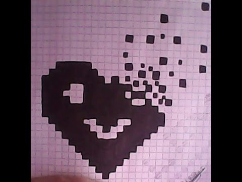 Dessin Pixel Facile Coeur Les Dessins Et Coloriage