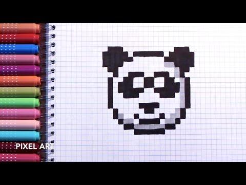 Dessin Pixel Facile Panda Les Dessins Et Coloriage