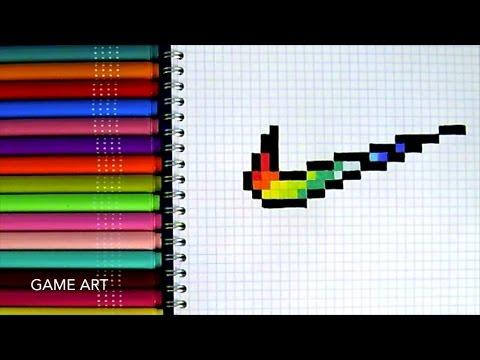 dessin pixel foot