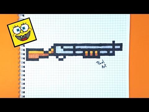 Dessin Pixel Fortnite Arme Les Dessins Et Coloriage