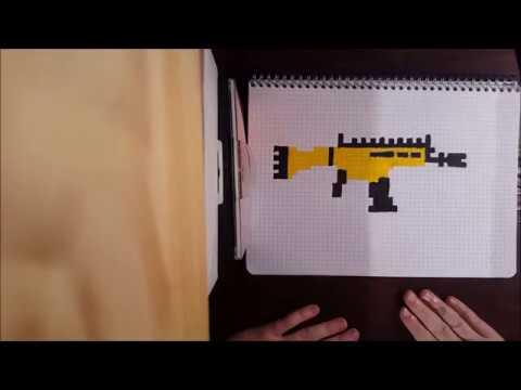 dessin pixel fortnite arme