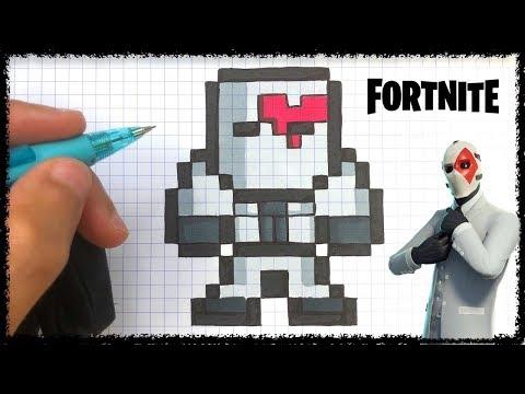 dessin pixel fortnite lama