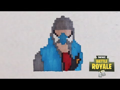 Dessin Pixel Fortnite Les Dessins Et Coloriage