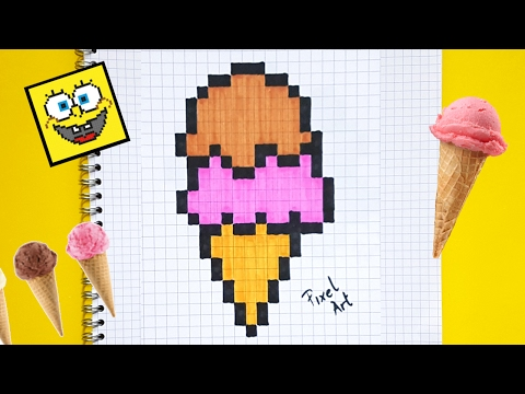 dessin pixel fraise