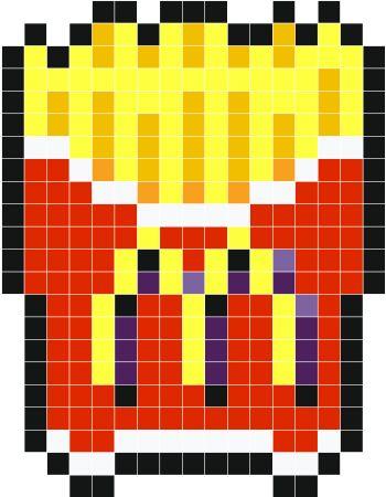 Pixel Art Nourriture Mcdo