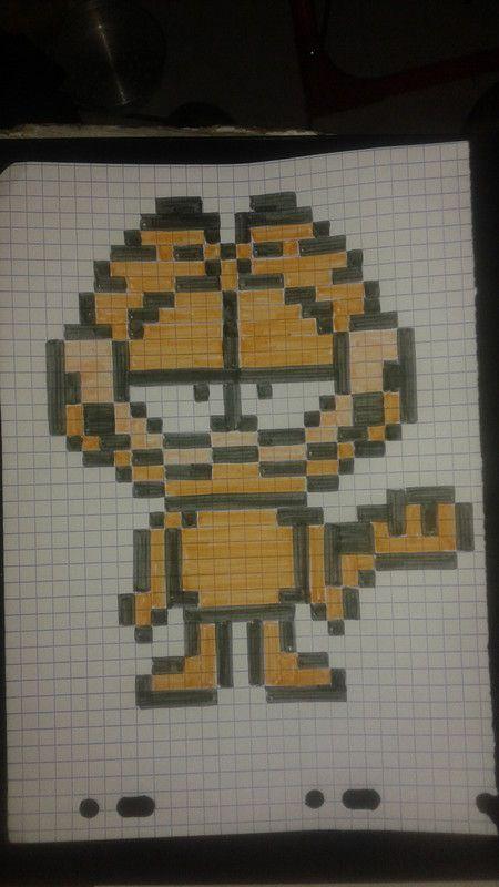 Dessin Pixel Garfield Les Dessins Et Coloriage
