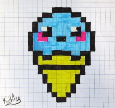 Dessin Pixel Glace Les Dessins Et Coloriage