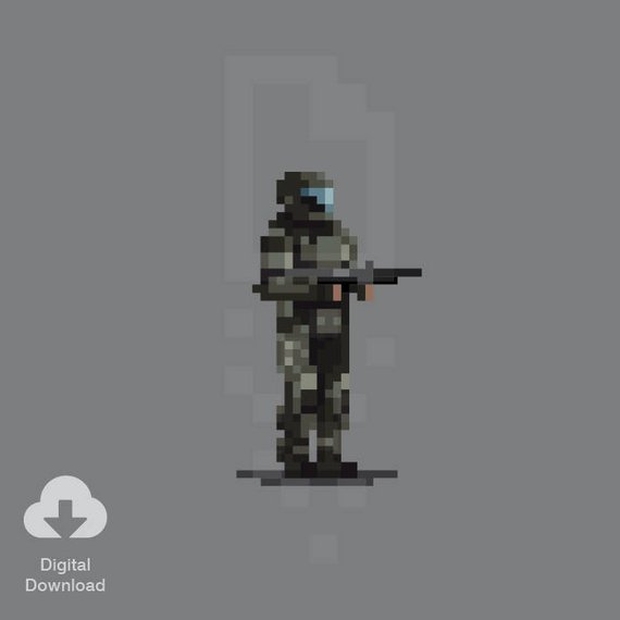 dessin pixel halo