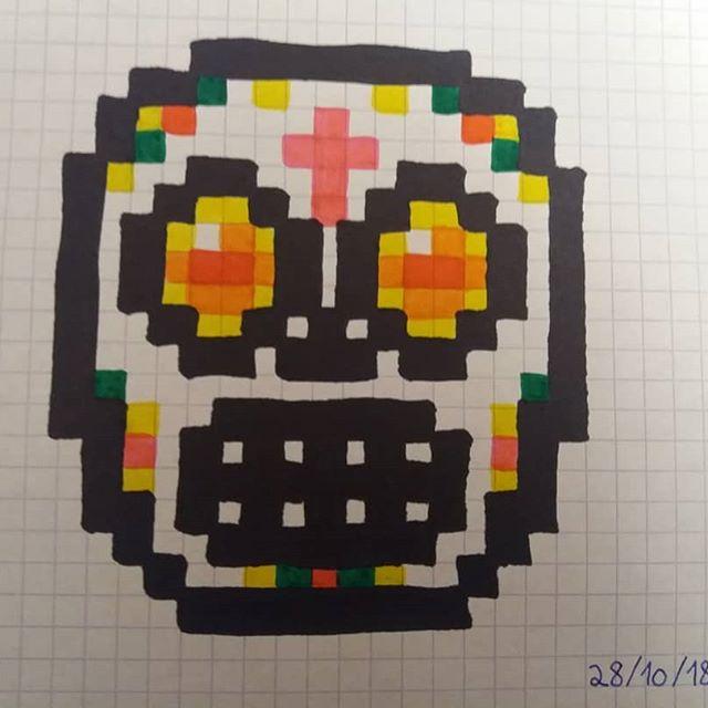 dessin pixel hamster