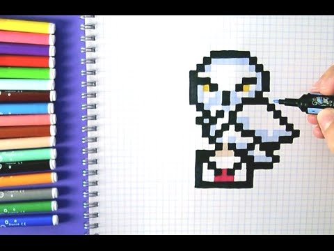 Pixel Art Chouette