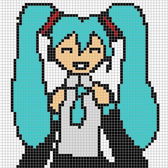dessin pixel hippocampe