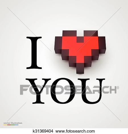 dessin pixel je t'aime