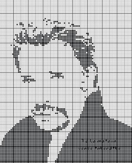 dessin pixel johnny hallyday