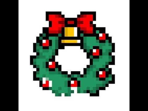dessin pixel kawaii noel