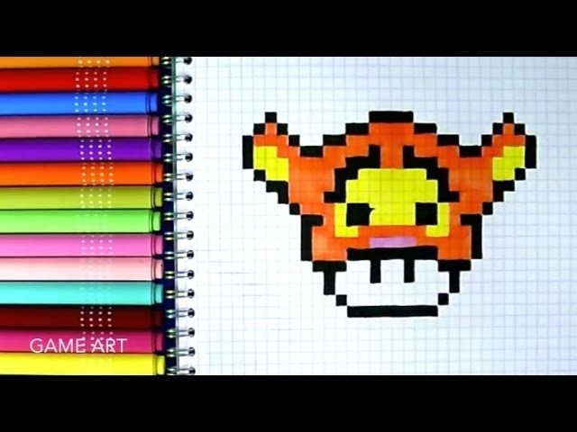 Dessin Pixel Art Kawaii Facile