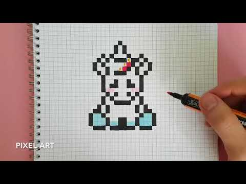 Pixel Art Fille Licorne