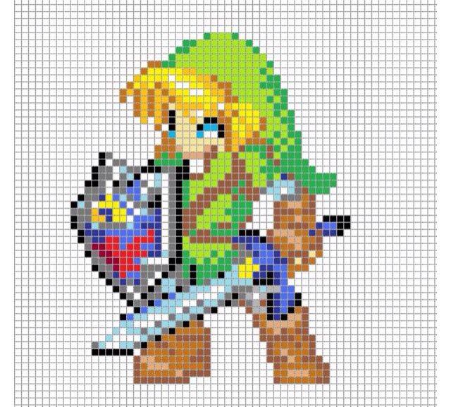 dessin pixel link