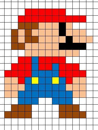dessin pixel mario facile