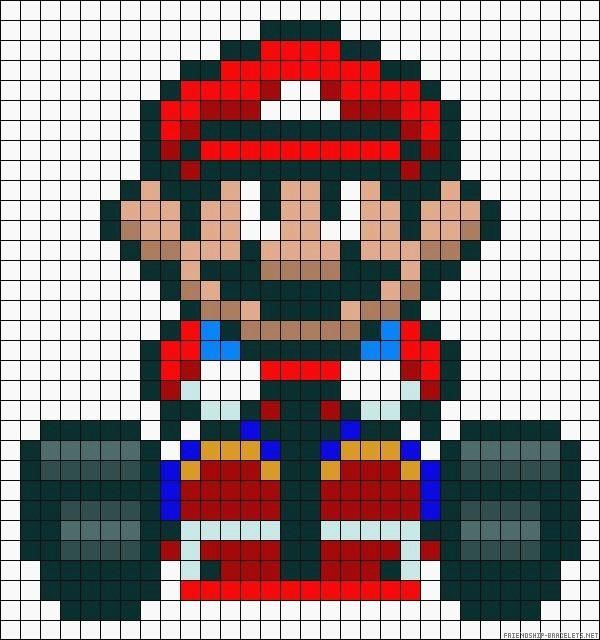 Pixel Dessin Mario