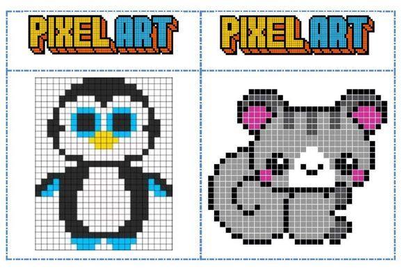 Dessin Pixel Modele Les Dessins Et Coloriage
