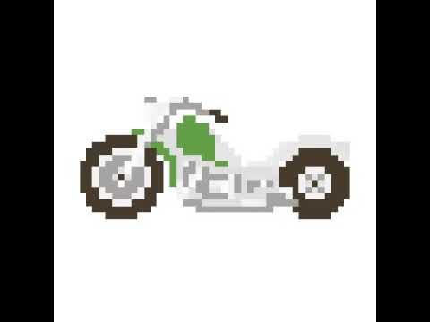 dessin pixel moto - Les dessins et coloriage