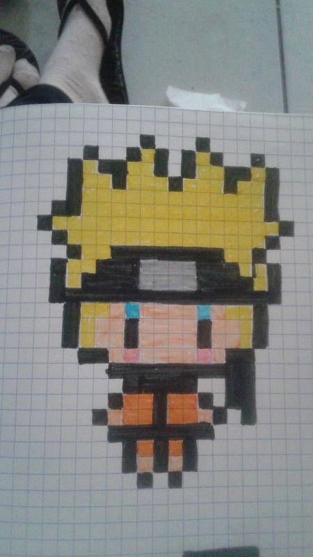 dessin pixel naruto
