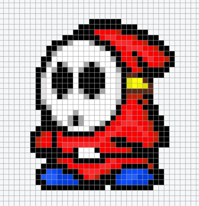 Dessin Pixel Nintendo Les Dessins Et Coloriage