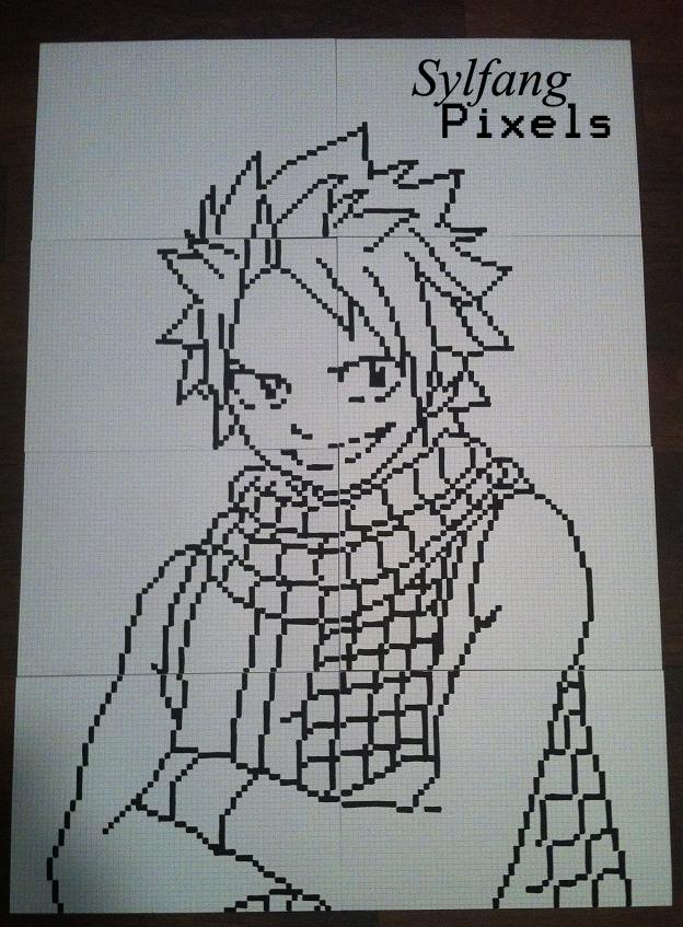 dessin pixel noir et blanc facile