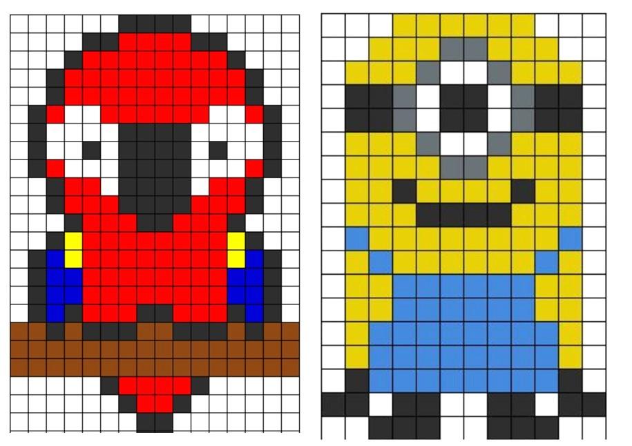 Dessin Pixel Oiseau Les Dessins Et Coloriage